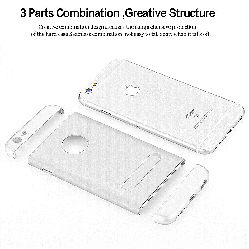 Shockproof Armor Stand Back Case Cover for Apple iPhone 6 Plus - Silver