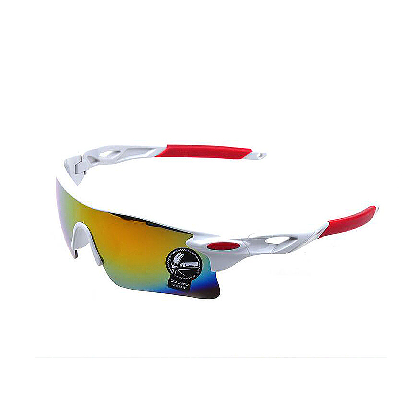 Fashion Unisex Sport Cycling Bicycle Running Sunglasses - White frame