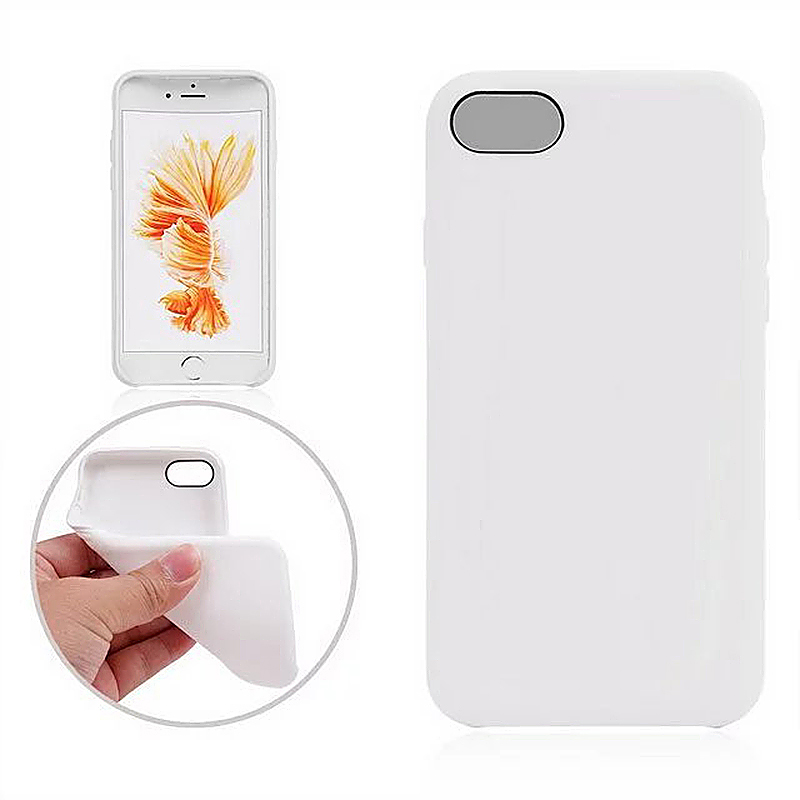 Fashion Soft TPU Phone Cover Case for iPhone 7 - White