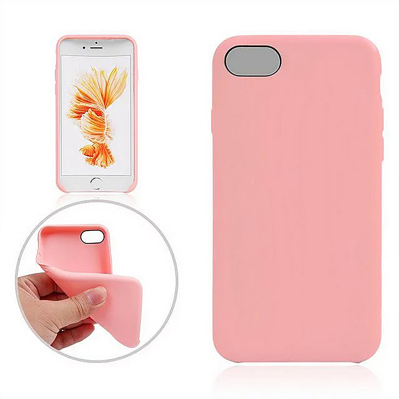 Fashion Soft TPU Phone Cover Case for iPhone 7 - Pink