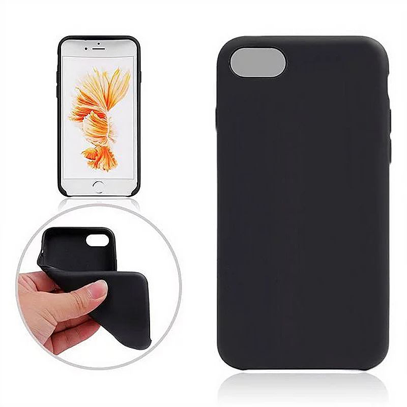 Fashion Soft TPU Phone Cover Case for iPhone 7 - Black