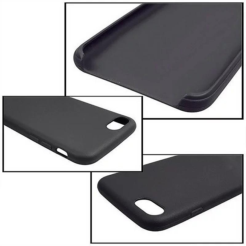 Fashion Soft TPU Phone Cover Case for iPhone 7 Plus - Black