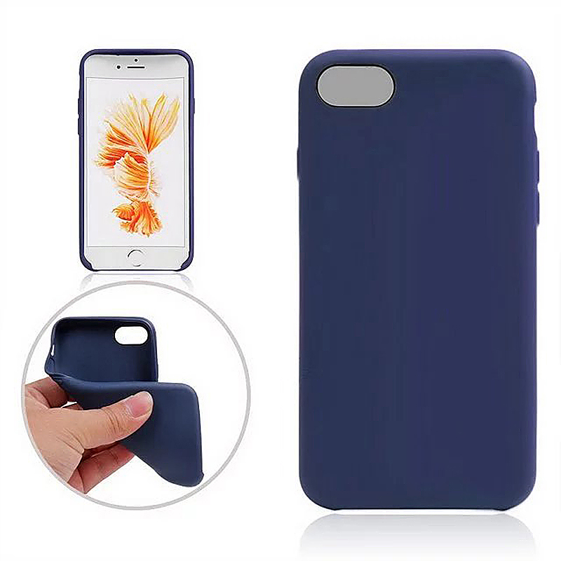 Fashion Soft TPU Phone Cover Case for iPhone 7 Plus - Blue