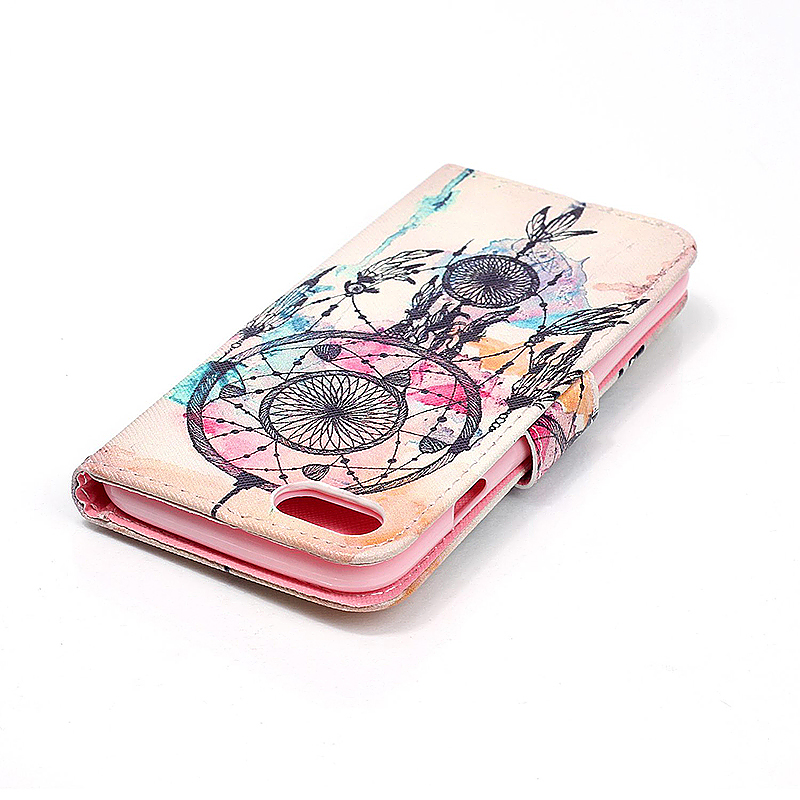 Soft Leather Book Wallet Slot Card Case Cover for iPhone 7 - Dream Catcher