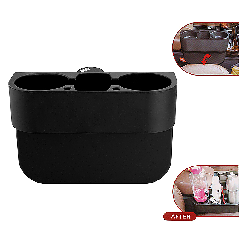 Custom Accessories Multifunctional Seat Wedge Cup Holder - Black