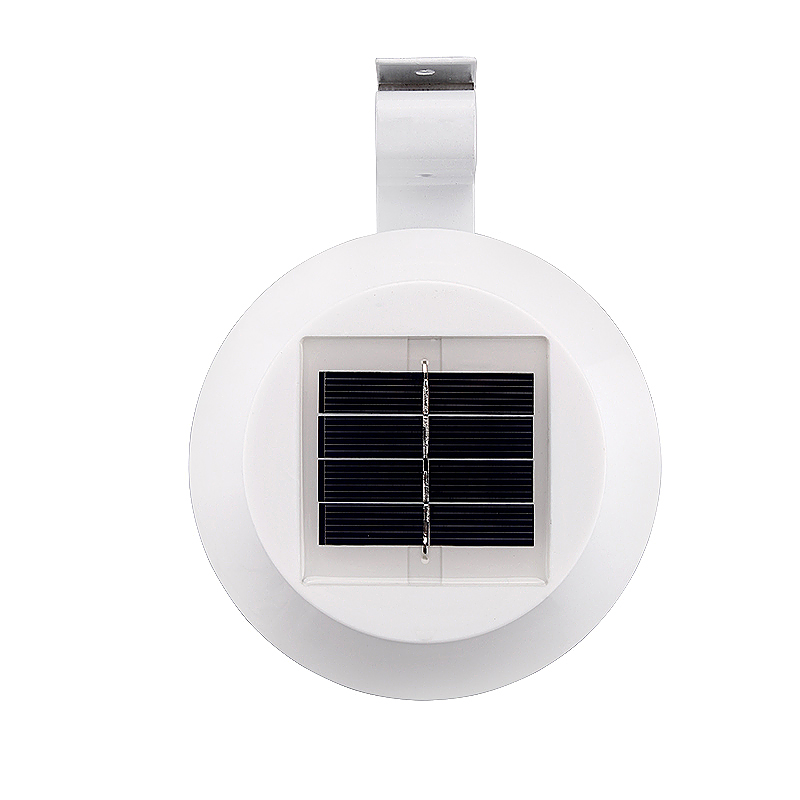 LED Solar Powered Outdoor Sensor Light Lamp for Garden Roof Wall - White
