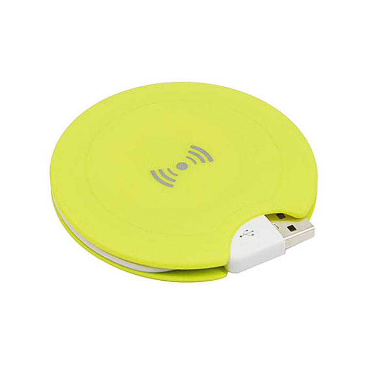 QI Wireless Charger Transmitter for QI Standard Mobile Phone (Coil)- Light Yellow