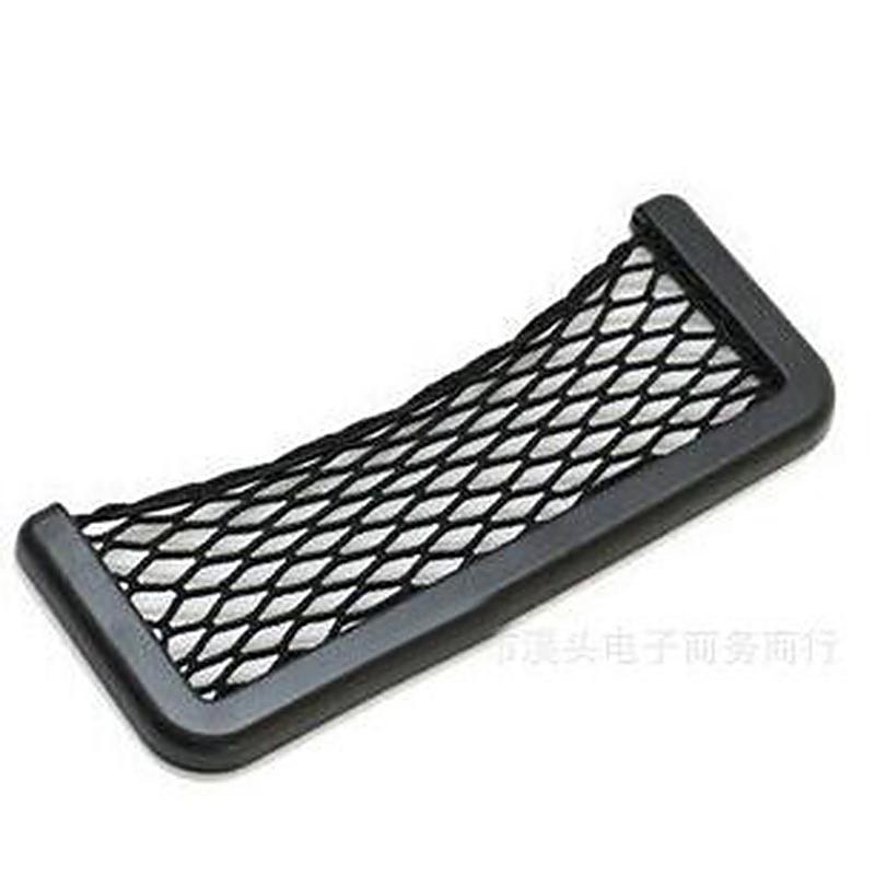 Car Elastic Phone Holder Debris Storage Net Bag Pocket Organizer