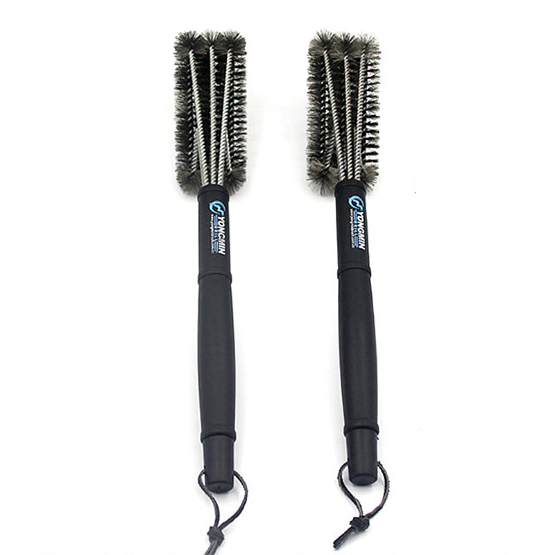 3 in 1 Stainless Steel Heavy Duty Barbeque Grill Brush Bristles Cleaner