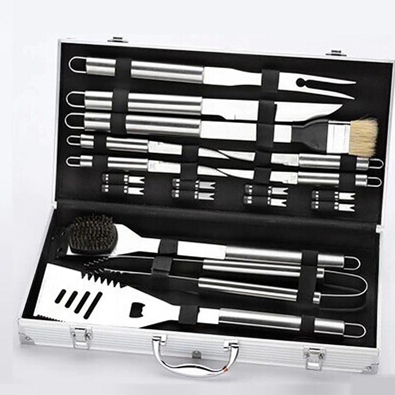 Outdoor Barbecue 18 Pcs Stainless Steel BBQ Grill Utensil Set