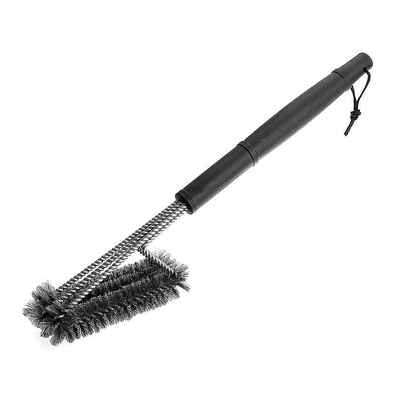 Layer Stainless Steel Heavy Duty Barbeque Grill Brush Bristles Cleaner