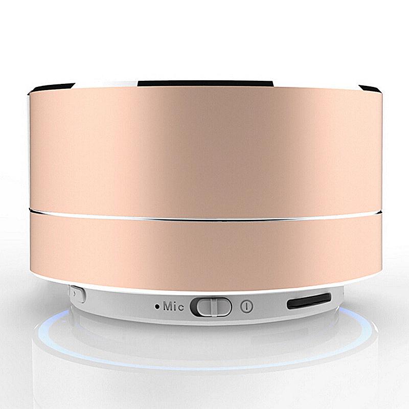 A10 Mini Portable Wireless Bluetooth Speaker for iPhone iPod iPad Samsung - Gold