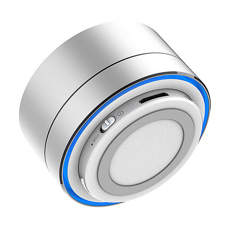 A10 Mini Portable Wireless Bluetooth Speaker for iPhone iPod iPad Samsung - Silver