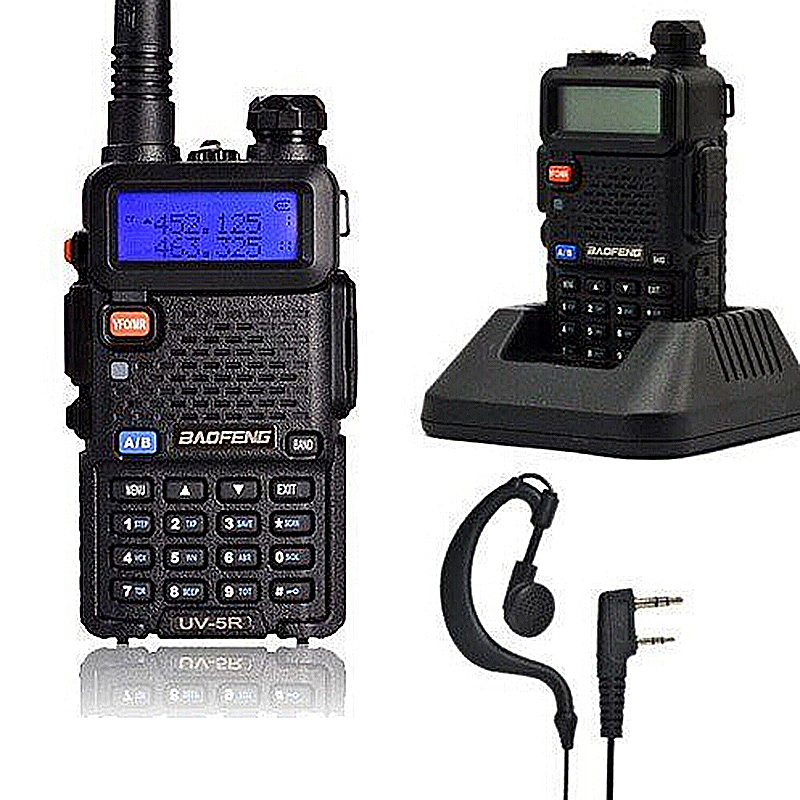 Baofeng bf-uv5r Wireless Walkie Talkie Two Way Radio Interphone with Earphone