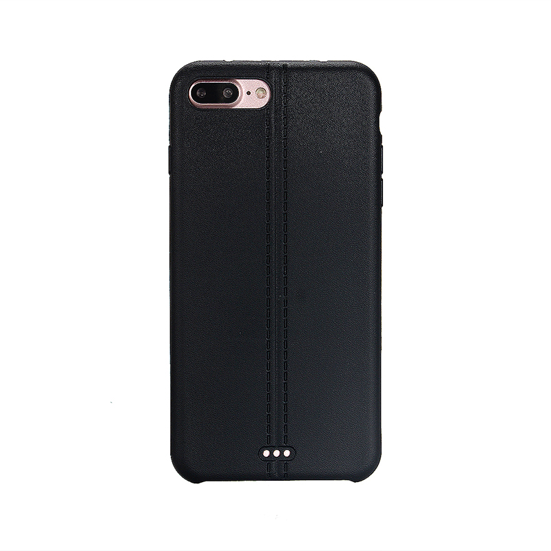 Luxury Soft TPU Phone Cover Protective Case for iPhone 7 Plus - Black