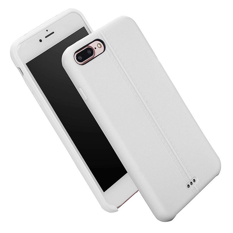 Luxury Soft TPU Phone Cover Protective Case for iPhone 7 Plus - White