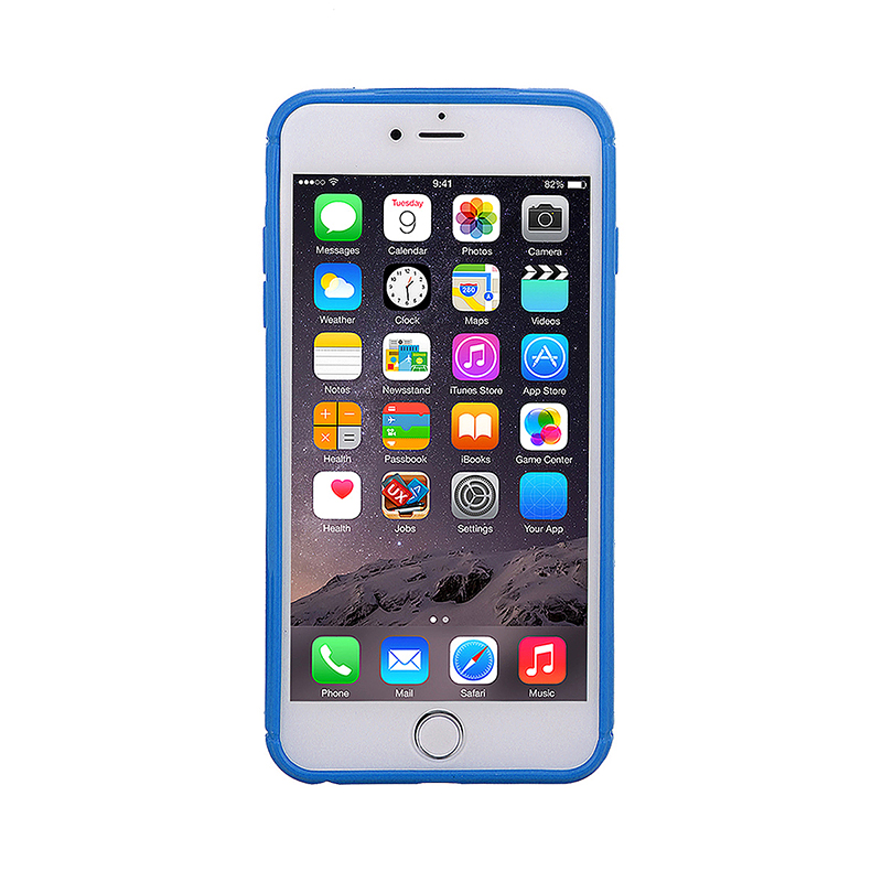 Fashion Soft TPU Honeycomb Style Phone Cover Case for iPhone 7 - Blue