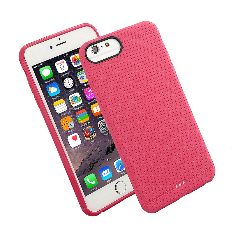 Fashion Soft TPU Honeycomb Style Phone Cover Case for iPhone 7 - Pink