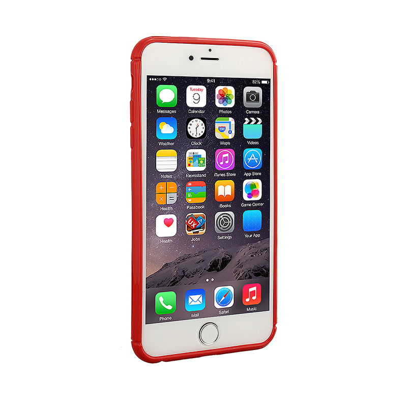 Fashion Soft TPU Honeycomb Style Phone Cover Case for iPhone 7 - Red