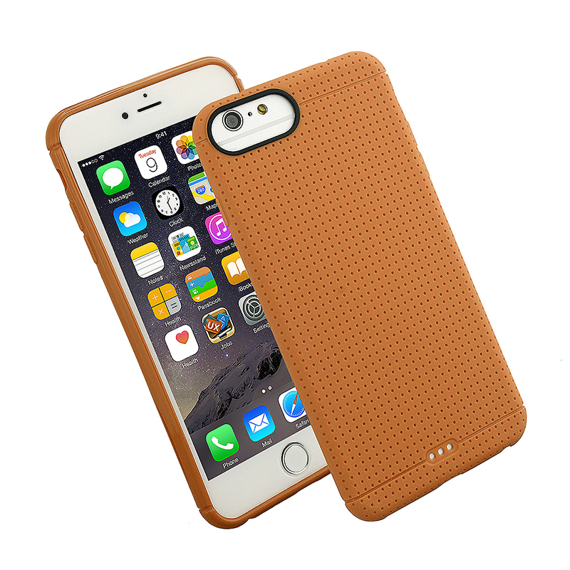 Fashion Soft TPU Honeycomb Style Phone Cover Case for iPhone 7 - Gold