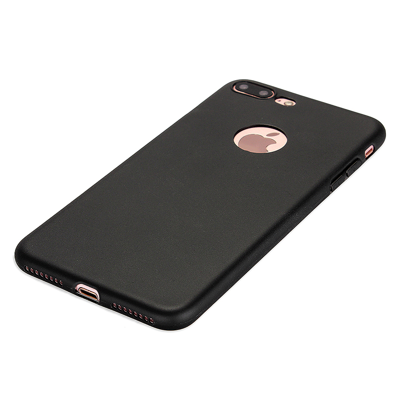 Fashion Multiple Color Soft TPU Phone Cover Case for iPhone 7 - Black