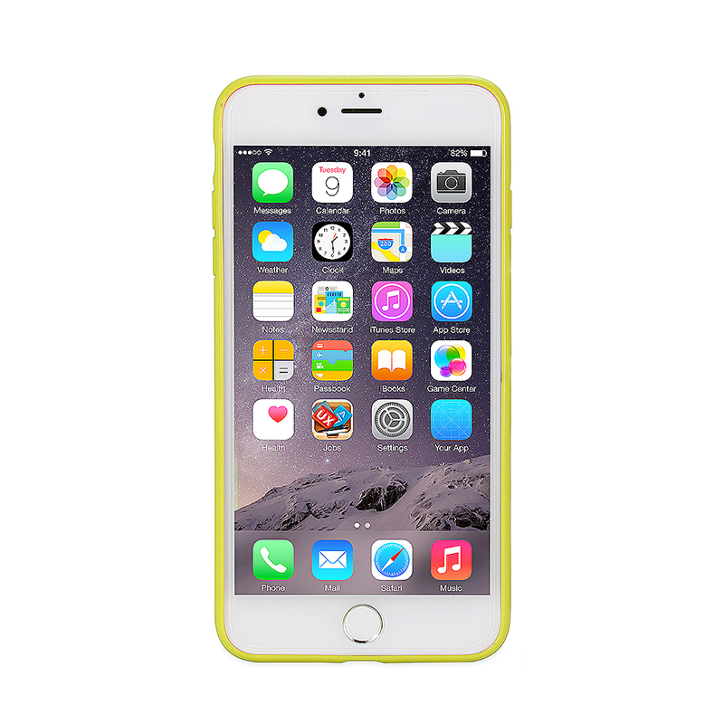 Fashion Multiple Color Soft TPU Phone Cover Case for iPhone 7 - Yellow