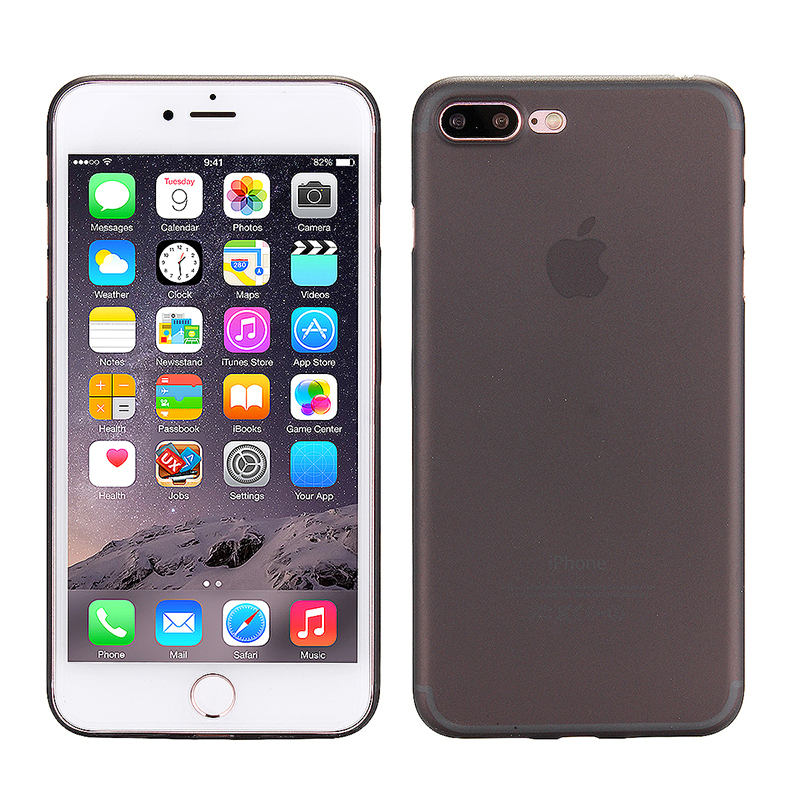 Fashion Full Cover PC Frosted Thin Phone Cover Case for iPhone 7 Plus - Black
