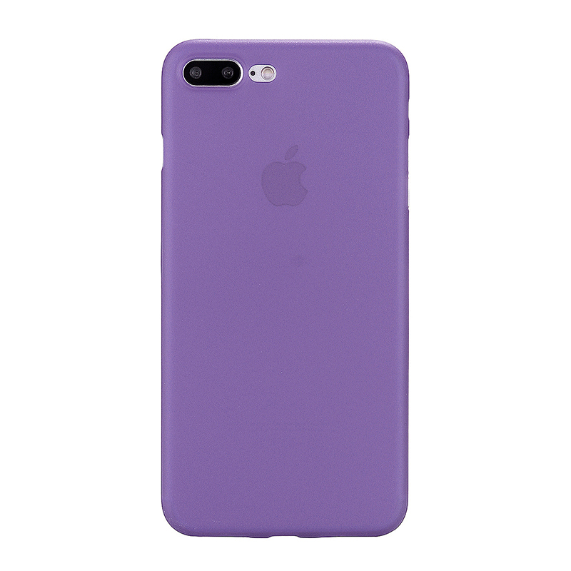 Fashion Full Cover PC Frosted Thin Phone Cover Case for iPhone 7 Plus - Purple