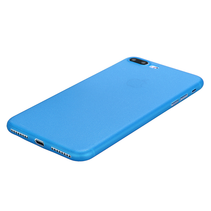 Fashion Full Cover PC Frosted Thin Phone Cover Case for iPhone 7 Plus - Blue