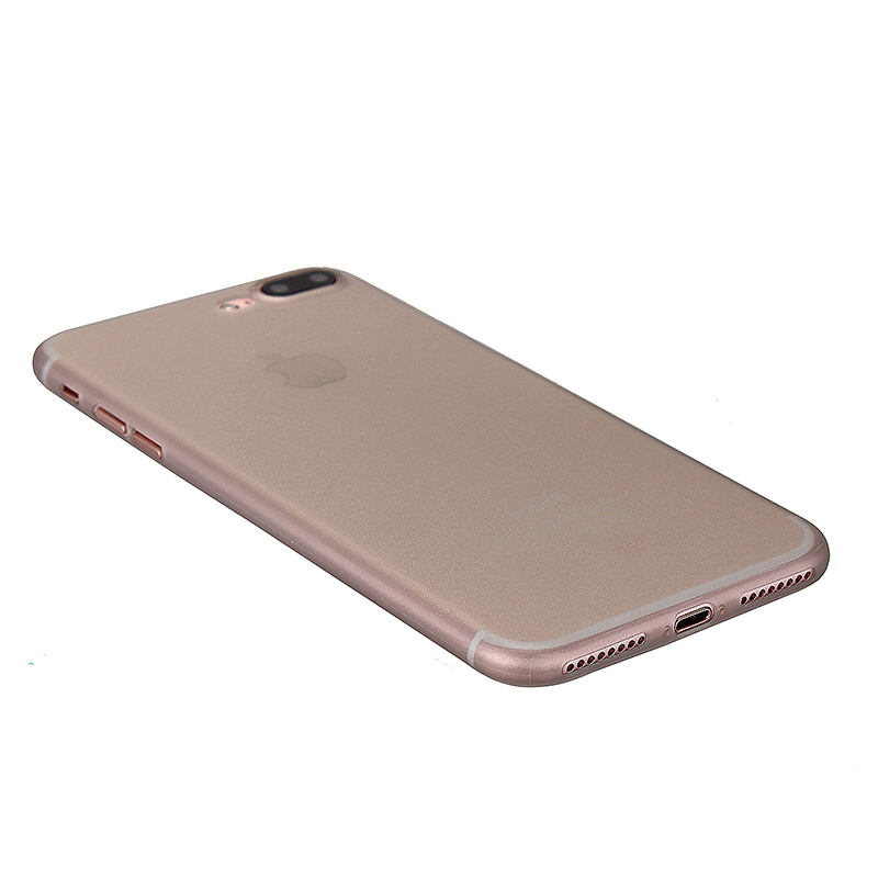Fashion Full Cover PC Frosted Thin Phone Cover Case for iPhone 7 Plus - Gray
