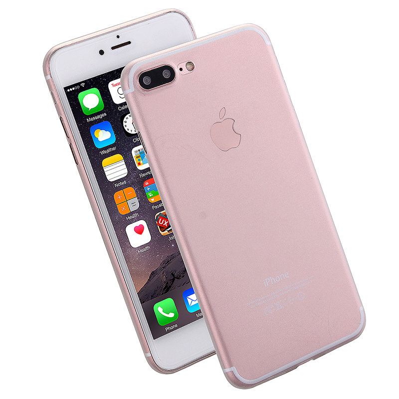 Fashion Full Cover PC Frosted Thin Phone Cover Case for iPhone 7 Plus - White