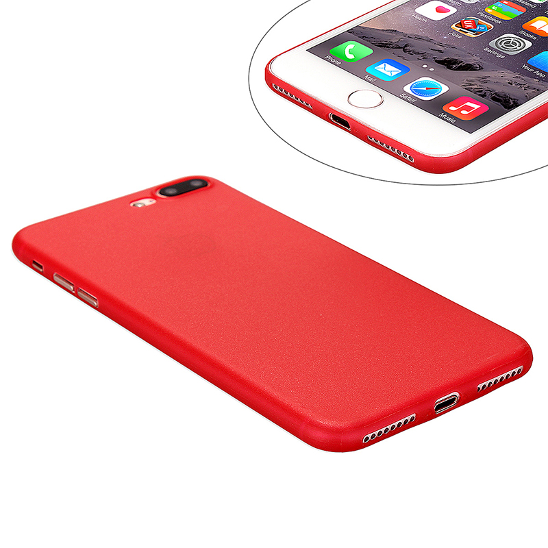 Fashion Full Cove PC Frosted Thin Phone Cover Case for iPhone 7 Plus - Red