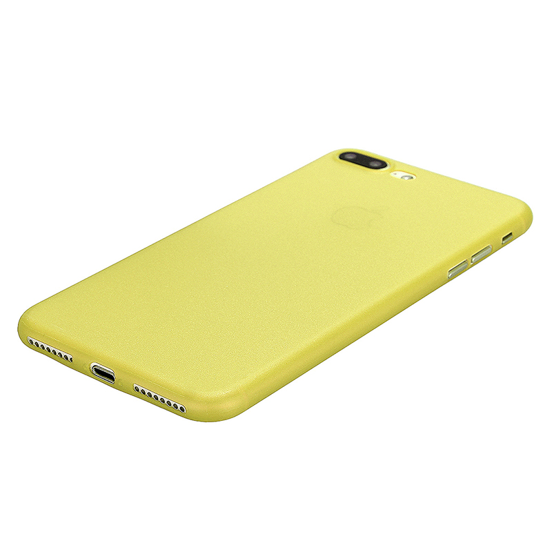 Fashion Full Cover PC Frosted Thin Phone Cover Case for iPhone 7 Plus - Yellow