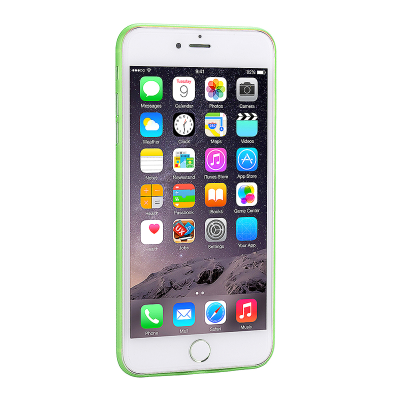 Fashion Full Cover PC Frosted Thin Phone Cover Case for iPhone 7 Plus - Green