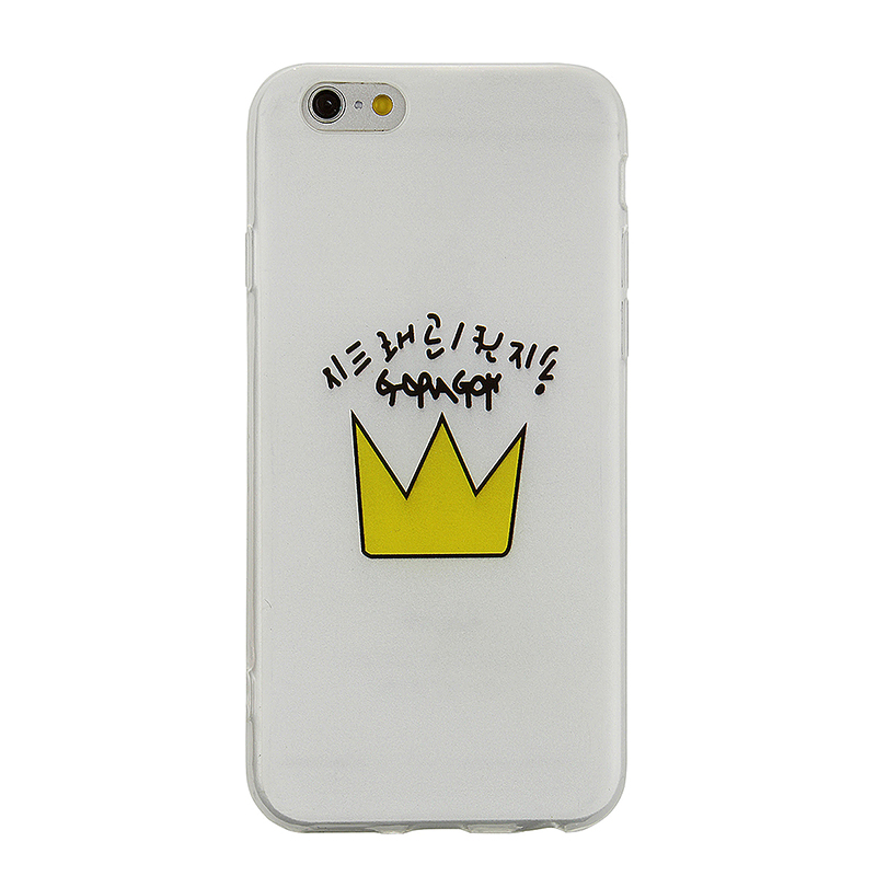 Fashion Soft TPU Phone Cover Case for iPhone 6S - Imperial Crown