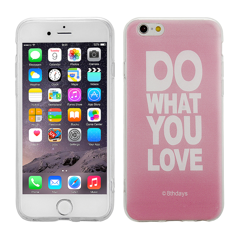 Fashion Soft TPU Phone Cover Case for iPhone 6S - Do What You Love