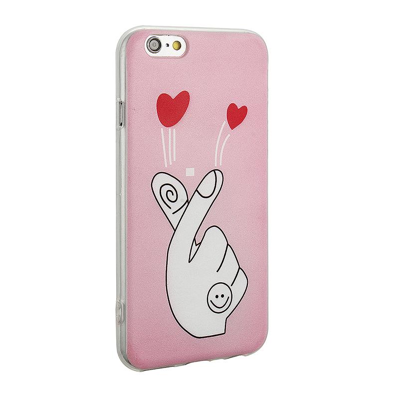 Fashion Soft TPU Phone Cover Case for iPhone 6S - Fingure