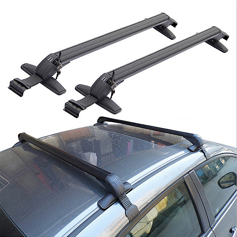 Universal Cars Anti Theft Car Roof Bars without Rails Lockable Rack