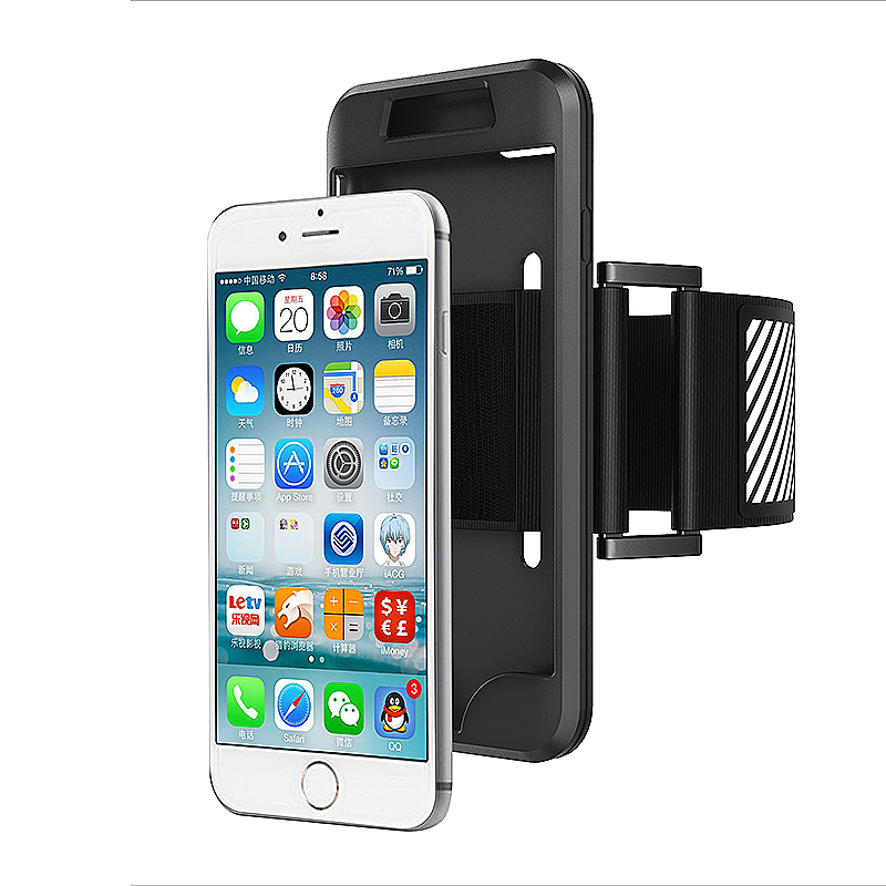 Universal Sports Running Exercise Armband Holder for iPhone 7 Plus - Black