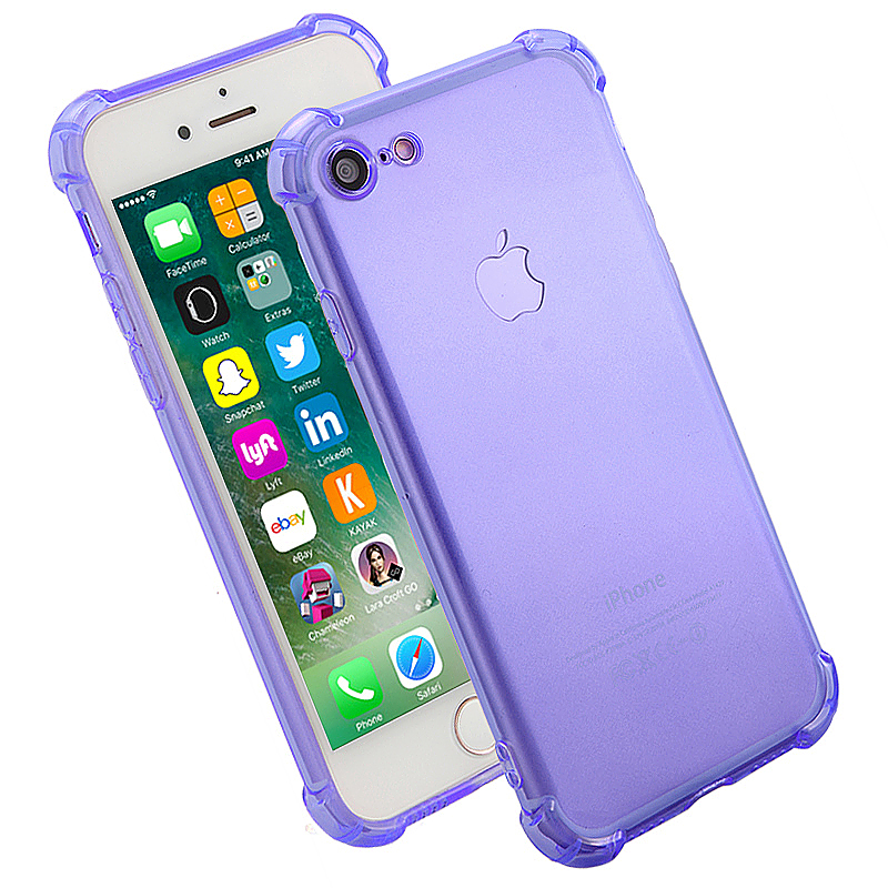 Shockproof Protective Phone Case Cover for iPhone 7 - Purple