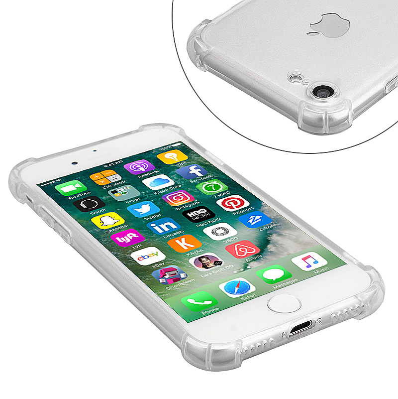 Shockproof Protective Phone Case Cover for iPhone 7 - Transparent