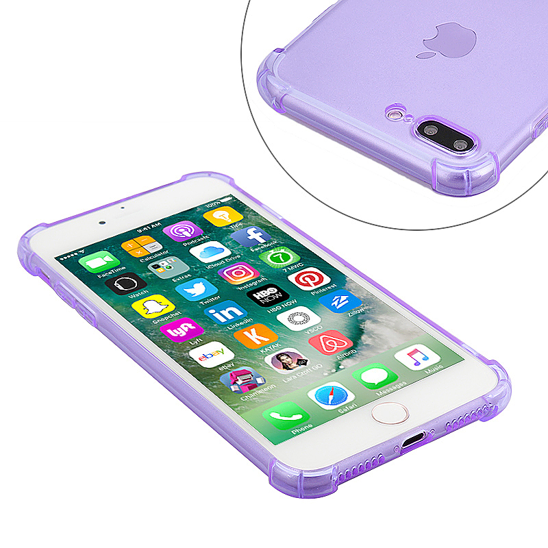 Shockproof Protective Phone Case Cover for iPhone 7 Plus - Purple