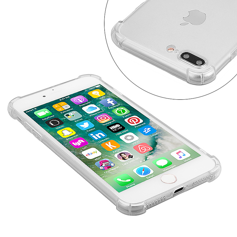 Shockproof Protective Phone Case Cover for iPhone 7 Plus - Transparent