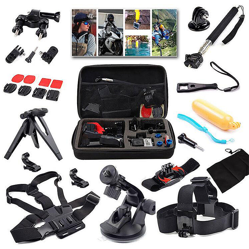 15 in 1 Outdoor Sports Essentials Kit for GoPro Hero 4 3+