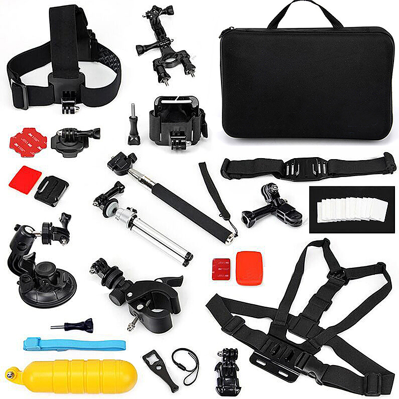 44 in 1 Outdoor Sports Essentials Kit for GoPro Hero 4 3 3+