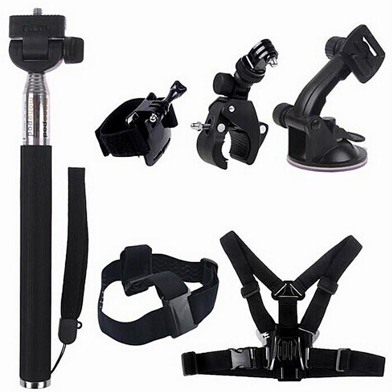 Universal 7 in 1 Outdoor Sports Essentials Kit for GoPro Hero 4 3 3+
