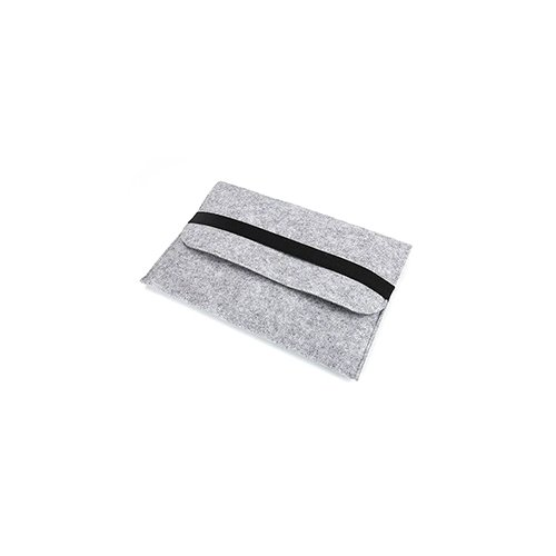 11 Inch Fashion Horizontal Open Felt Sleeve Laptop Case Cover Bag for MacBook - Grey
