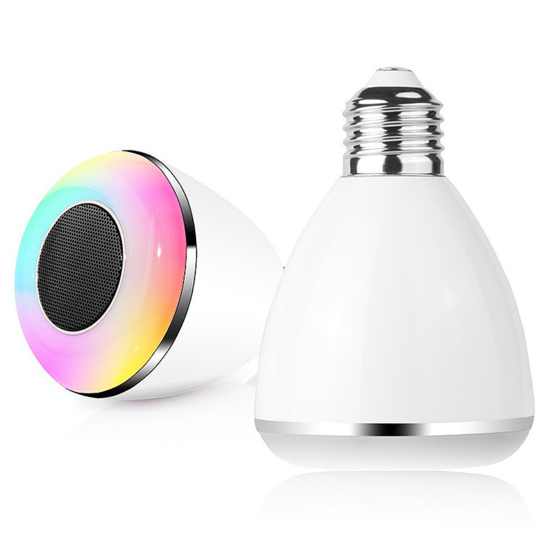 2 in 1 Smart Bluetooth 4.0 Music Speaker App Controlled Lamp LED Bulb