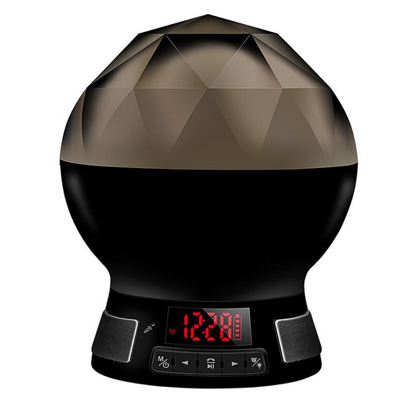 Smart LED Bluetooth Bulb Multi Color Sensor Lights Support FM Radio TF Card - Black