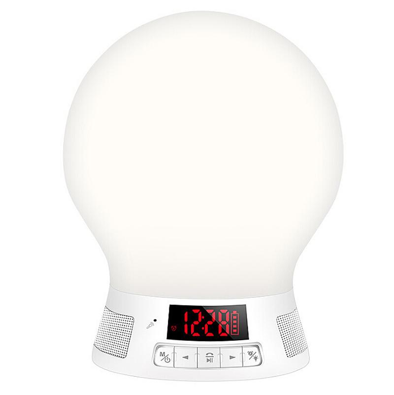 LED Bulb Light Lamp Bluetooth Control Music Audio Smart Speaker - White